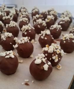 Enigma Fine Chocolate's Butterscotch Popcorn Truffles
